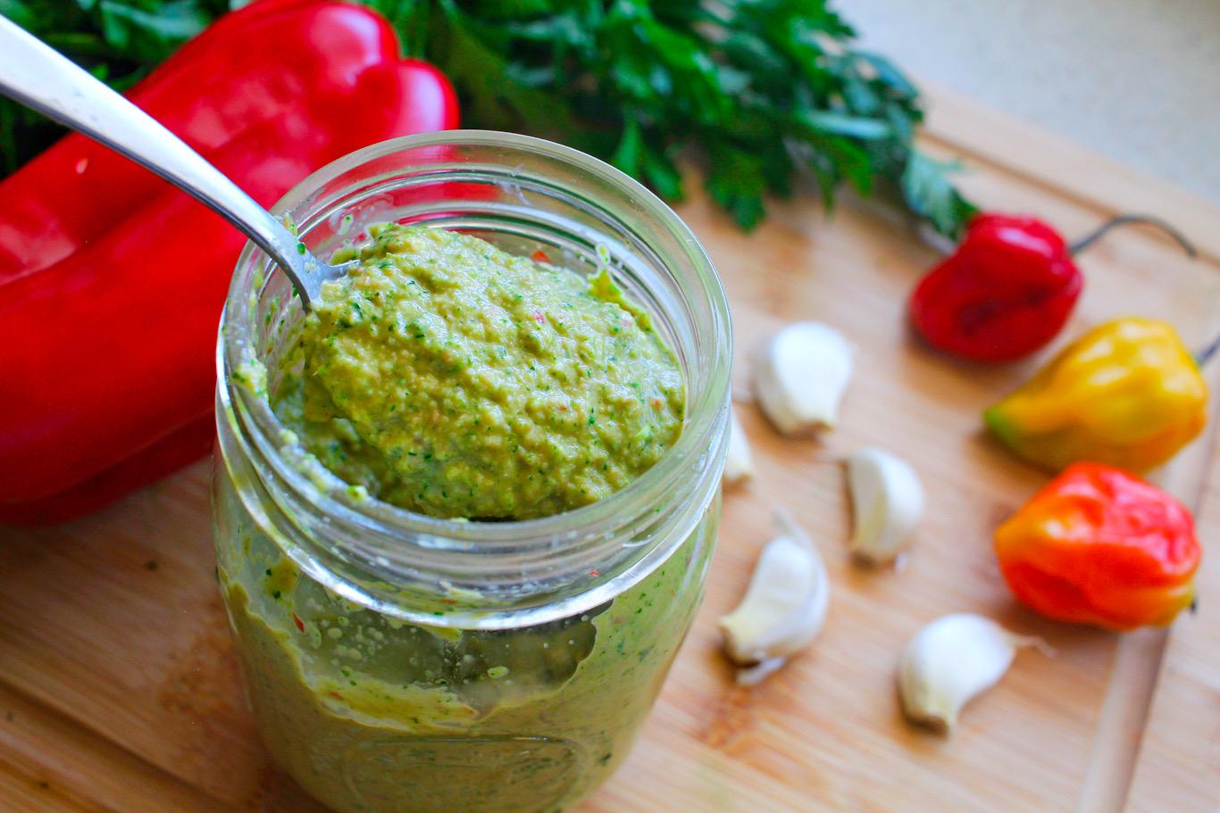 Haitian Epis Green Seasoning Pegz Cooks